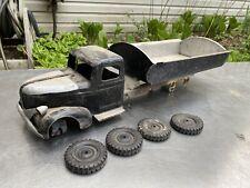 Vtg Turner Wyandotte Pressed Steel Steelcraft Toy Dump Truck Semi Large