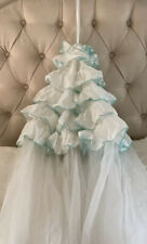 Pottery Barn Kids Tulle Ruffled Canopy Netting White