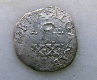 PORTUGAL SILVER D FILIPE (PHILIP II) 20 REIS (VINTEM) KM#15  1598-1621