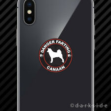 (2x) Danger Farting Canaan Cell Phone Sticker Mobile dog canine pet