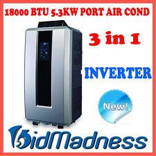 NEW 5.3kW 18000 BTU PORTABLE INVERTER 3 in 1 AIR CONDITIONER DEHUMIDIFIER FAN