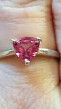 Size N to O Mystic Pink Topaz sterling Silver Ring 1.40cts