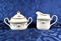 Minton Grasmere Blue - Creamer & Sugar Bowl Set - Vintage English Porcelain