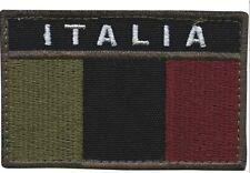 Patch toppa ITALIA ESERCITO bassa visibilità VELCR. TERMOSALDABILE BANDIERA