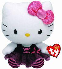 Peluche Hello Kitty Gotica Punk Original de Marca Ty Sanrio Juguete Niños Kity