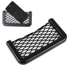 1x Car Interior Body Edge ABS Elastic Net Storage Phone Holder Black Accessories