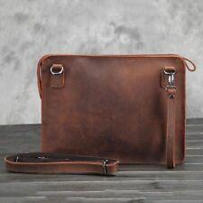 Retro Mens Business Real Leather Handbag Messenger Shoulder Bag Purses Portfolio