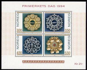 Norway Scott #1069 VF MNH 1994 Stamp Day Souvenir Sheet