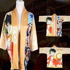 Anime One Piece Luffy Cloak Kimono Bathrobe Coat Cosplay Costume