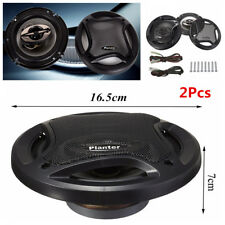 Pair 6.5'' 12V 400W 90dB Car Subwoofer Max 4-Way Coaxial Component Speaker Audio
