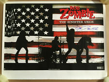 ROB ZOMBIE Rare 2001 AUTOGRAPHED Signed PROMO POSTER for Sinister CD 18x24 White