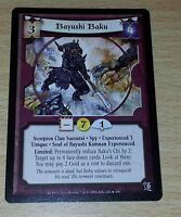 L5R - Legend of the Five Rings CCG - Lotus - Bayushi Baku (Experienced 3)