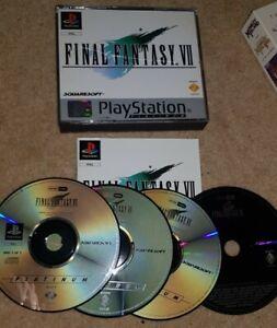 Final Fantasy VII -- Platinum (Sony PlayStation 1, 2000) INCLUDES DEMO DISC