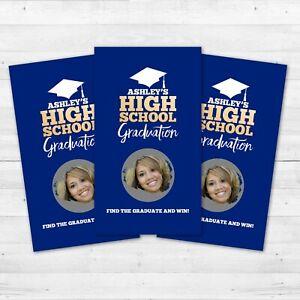 10 Graduation Scratch Off Games Graduation Promotion Party Favors Personalized