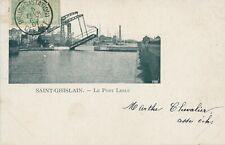 CPA - Belgique - Saint-Ghislain - Le pont Leblu