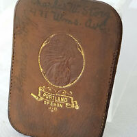 Antique Leather Calling Card Holder Portland Oregon W/5 Victorian Calling Cards