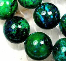 10mm Azurite Chrysocolla Gemstones Round Loose Beads 15""