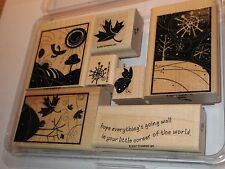 "Stampin Up ""Seasonal Whimsy"" Rubber Stamp Set, Winter, Spring and Fall"