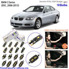18 Bulbs LED Interior Dome Light Kit Xenon White For BMW 3 Series E92 Coupe