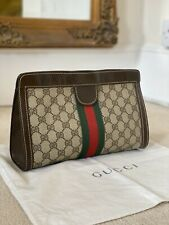 100% AUTHENTIC Vintage Gucci Ophidia 1980's Accessory Collection Clutch Handbag