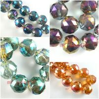 10pcs Lampwork Faceted Round Glass Crystal Beads Loose Spacer Findings 20mm
