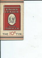 AC-004- ten Union Leader 10cent Cigarette Rolling Paper Wrappers Antique Vintage