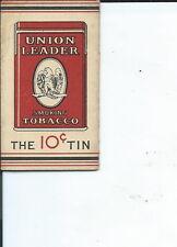 AC-004- ten Union Leader 10cent Cigarette Rolling Paper Wrappers Antique Vintage