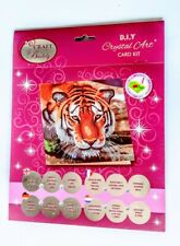 "Craft Buddy Crystal Card Making Kit ""TIGER"""