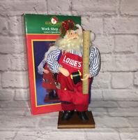 Kurt Adler Special Edition LOWE'S Work Shop Santa Figure Christmas Decor w/box