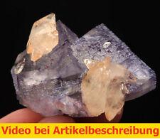 7220 Fluorite Calcite 1998 Elmwood Mine Tennessee USA ca  4,5*5,5*4 cm  MOVIE