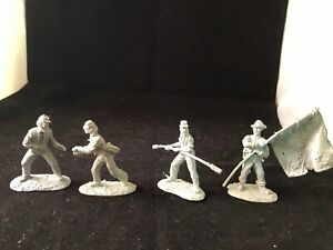 CONTE CONFEDERATE Artillery crew 4 figs Rare Resin playset exclusive