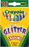Crayola Glitter Crayons, Nontoxic, Assorted, 16/Box