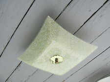 Vintage 70's Electric Ceiling Light Colored Textured Glass Shade