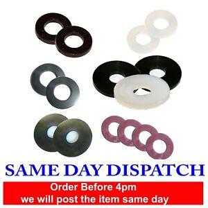 Nylon 66 White Black Form A Penny Fibre Rubber Washers M3 M4 M5 M6 M8 M10