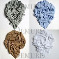Ribbed Jersey Hijabs Scarf Maxi High Quality Stretchy Lycra Shawl Wrap Sarong