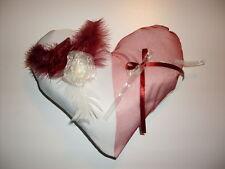 Coussin forme coeur pour alliances mariage neuf