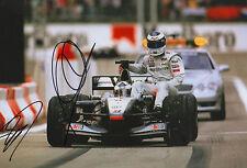 Mika Häkkinen & David Coulthard Autogramme signed 20x30 cm Bild