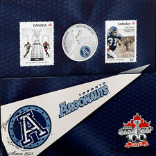 Canada 2012 25 Cents The Toronto Argonauts Coloured Coin & Stamp Set