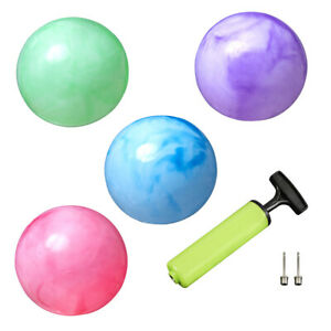 New Bounce Marbleized Rubber Balls (Set of 4) Plus 2 Pins & Pump for Kids