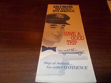 1965/66 Sunoco Baltimore & Vicinity/Annapolis Vintage Road Map