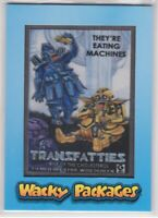 "2018 Topps Wacky Packages ""Go to the Movies"" TRANSFATTIES MP-7 Patch Card #36/99"