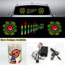 Dual Speakers Car Sticker DJ Music Rhythm Flash Light Sound Activated Equalizer