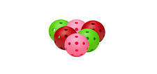 FLOORBALL UNIHOCKEY 6 x Official balls by Fat Pipe various colors