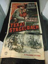 Charles Starrett Texas Stagecoach Original 3-Sheet Movie Poster #N1326