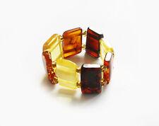 Genuine baltic amber stretch ring.