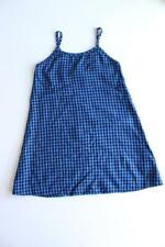 Vintage Womens 90's Gingham Slip Dress Size S