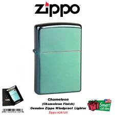 Zippo Chameleon Lighter, Green/Blue Finish, Genuine Windproof #28129