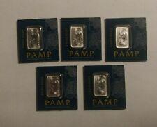 1 gram Pamp Suisse Platinum 5 Bar Set (in Assay)