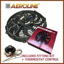 "16"" 120w Aeroline Slim Electric Car Radiator Cooling Fan + Capillary Thermostat"
