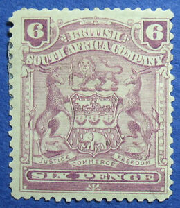 1902 RHODESIA 6d SCOTT# 65a S.G.# 83a UNUSED                             CS09692